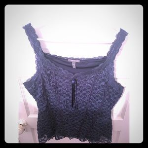 Navy blue lace cami